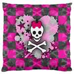 Princess Skull Heart Large Cushion Case (Two Sides)