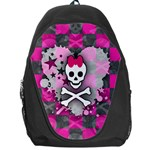 Princess Skull Heart Backpack Bag