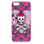 Princess Skull Heart Apple Seamless iPhone 5 Case (Clear)