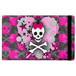 Princess Skull Heart Apple iPad 3/4 Flip Case