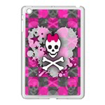 Princess Skull Heart Apple iPad Mini Case (White)