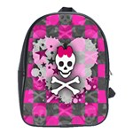 Princess Skull Heart School Bag (XL)