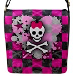 Princess Skull Heart Flap closure messenger bag (Small)
