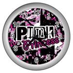 Punk Princess Wall Clock (Silver)