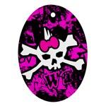 Punk Skull Princess Ornament (Oval)