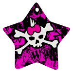 Punk Skull Princess Star Ornament (Two Sides)
