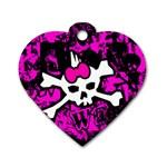 Punk Skull Princess Dog Tag Heart (Two Sides)