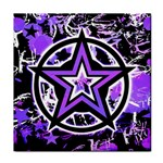 Purple Star Tile Coaster
