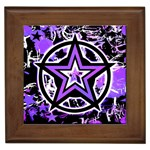 Purple Star Framed Tile