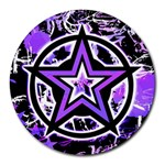Purple Star Round Mousepad
