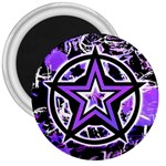 Purple Star 3  Magnet
