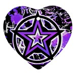 Purple Star Ornament (Heart)