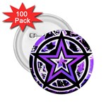 Purple Star 2.25  Button (100 pack)