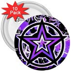 Purple Star 3  Button (10 pack)