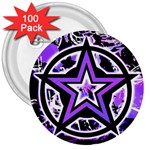 Purple Star 3  Button (100 pack)