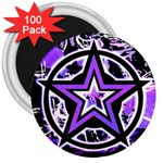 Purple Star 3  Magnet (100 pack)