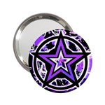 Purple Star 2.25  Handbag Mirror