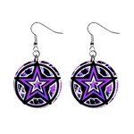 Purple Star 1  Button Earrings
