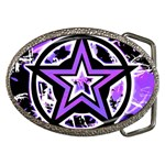 Purple Star Belt Buckle