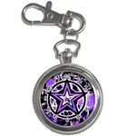 Purple Star Key Chain Watch