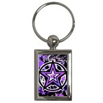 Purple Star Key Chain (Rectangle)