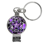 Purple Star Nail Clippers Key Chain