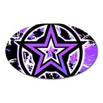 Purple Star Magnet (Oval)