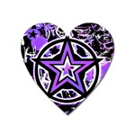 Purple Star Magnet (Heart)