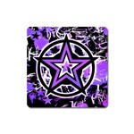 Purple Star Magnet (Square)