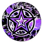 Purple Star Magnet 5  (Round)