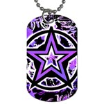 Purple Star Dog Tag (One Side)