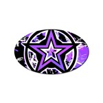 Purple Star Sticker Oval (10 pack)