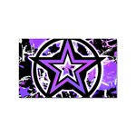 Purple Star Sticker Rectangular (10 pack)