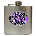 Purple Star Hip Flask (6 oz)