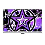 Purple Star Business Card Holder