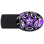 Purple Star USB Flash Drive Oval (2 GB)