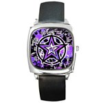 Purple Star Square Metal Watch