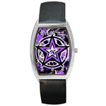 Purple Star Barrel Style Metal Watch