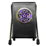 Purple Star Pen Holder Desk Clock