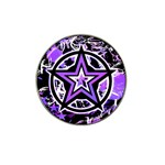 Purple Star Hat Clip Ball Marker (10 pack)