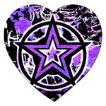 Purple Star Jigsaw Puzzle (Heart)