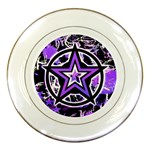 Purple Star Porcelain Plate