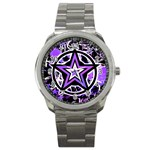 Purple Star Sport Metal Watch