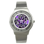Purple Star Stainless Steel Watch
