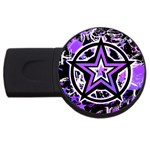 Purple Star USB Flash Drive Round (4 GB)