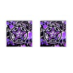 Purple Star Cufflinks (Square)