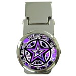 Purple Star Money Clip Watch