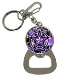 Purple Star Bottle Opener Key Chain