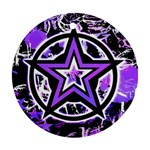 Purple Star Round Ornament (Two Sides)