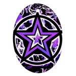 Purple Star Oval Ornament (Two Sides)